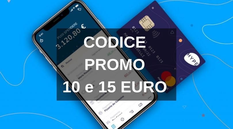 Carta HYPE Codice Promo 10 euro